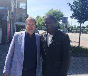 "Talent Aldrin Sinkala with Cor Gersen of ""Team 2015"" Leerdam"