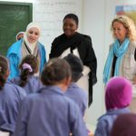 Valeria Amos, head of OCHA, visits refugee camps in Jordan.