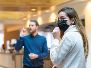 Video recording and mouth mask The Hague Academy for local Governance